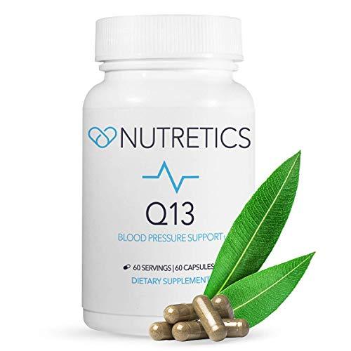 Nutretics Q13 High Blood Pressure Supplement - Hawthorn Berry Capsules, Vitamin Blend & Natural Antioxidant Supplement | Blood Pressure & Cholesterol Support Plus Heart Health | 60 Capsules