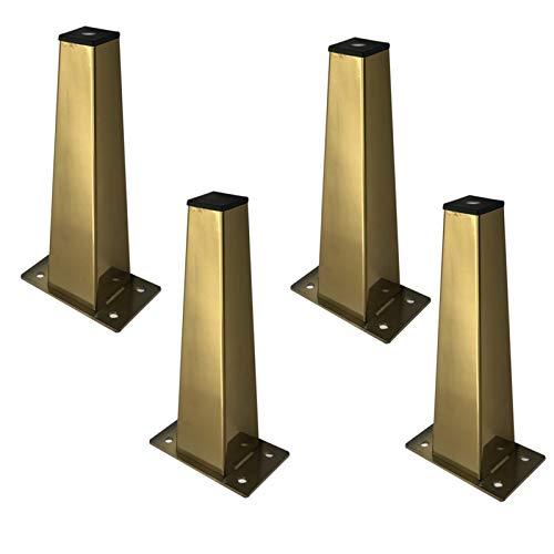 LIFF 1/2 / 4PCS Muebles de Acero Inoxidable Sofá de pie de pie Mesa de baño Mueble de baño TV Gabinete Accesorios de Hardware (Color : 4PCS 8cm)
