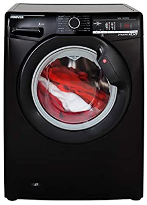 Hoover DXOA 68LB3B Freestanding Washing Machine, NFC Connected, 8Kg Load, 1600rpm spin, Black