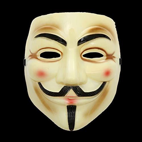 SHWSM Plastic Horror Maskers/Halloween Kostuum Voor Feest/Enge Hoofd Masker Gezicht Voor Volwassene/Oude Man Masker Met Haar Voor Halloween Party