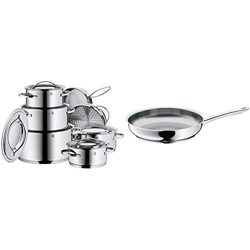 WMF Gala Plus Batería de Cocina (7 Piezas), Acero Inoxidable Cromargan, Apta para Todo Tipo de cocinas Incluso inducción +...
