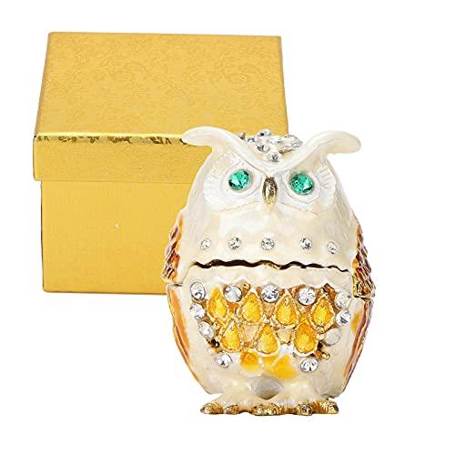 Jopwkuin Caja organizadora de Joyas, para exhibición de Joyas Estuche de joyería con Forma de búho Brillante para Regalo para Mujeres
