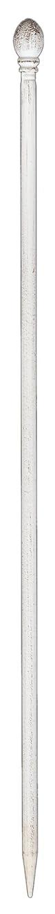 キリスト潜水艦ウガンダ門扉付きの柵が作れるロゼッタシステムフェンス ポスト 1本 アイアン アンティークホワイト IPN-7265P-WHT