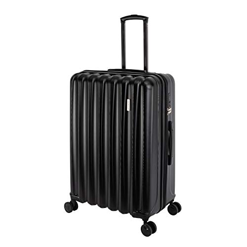Travelhouse Postage Suitcase Travel Trolley Various Sizes and Colours, black (Black) - Porto T1843
