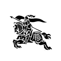 アウトドア ステッカー カバザ・ボディファッションカーステッカー戦士デカールブラック/シルバービニールファイティング16.5 * 13.7CM興味深いライダー アウトドア ステッカー (Color Name : Black)