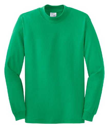 PORT AND COMPANY Mock Turtleneck (PC61M) Kelly Green, L
