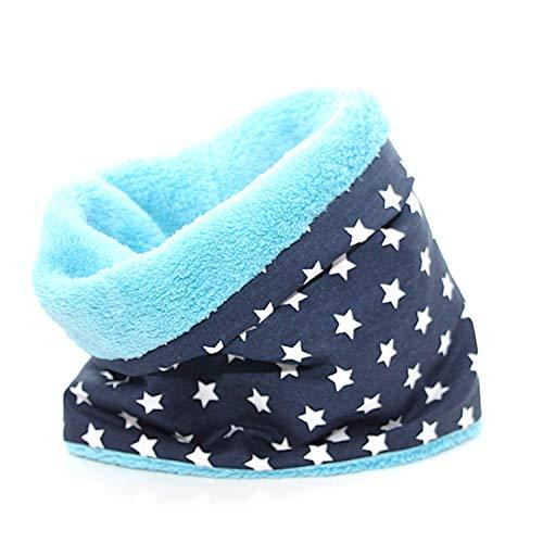 Hundeloop - Stars Blue, Schal für Hunde, wunderbar warm und weich