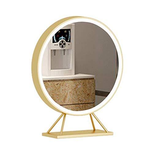 Magnifique Miroir Miroir Table Double Face, Miroir Bureau dédié pour Salon Coiffure, Salon Coiffure Miroir beauté Teint à Chaud avec Miroir Maquillage
