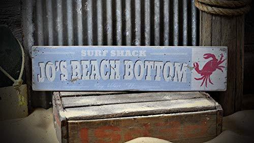 DFKKHHR Custom Surf Shack City & State Schild, Schild für die Küste, Coastal Shack zum Surfen, Surfer Schild, rustikales Holzschild für Home Decer Vintage Dekoration