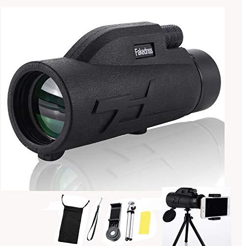 Pocket Monocular Telescope Night Vision for Adults High Powered Zoom Spyglass Super Telephoto 4k Handheld Scope Sight Phonescope for Phone Stargazing