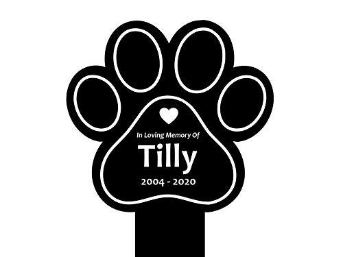 Oggetti commemorativi e lapidi per cani