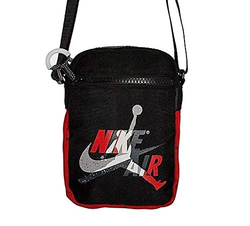 Nike Unisex Jordan Mashup Air Festival Bag (One Size, Black/Gym Red/White)