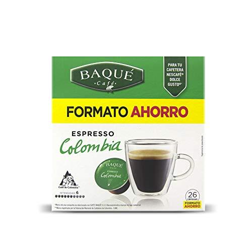 Cafés Baqué 26 Capsulas Compatibles Dolce Gusto Espresso Colombia 182 g