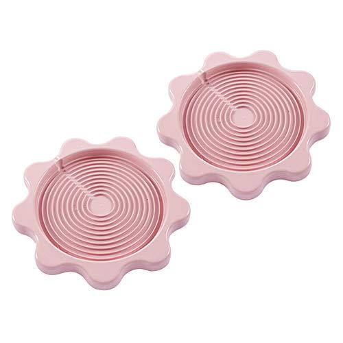 Yemiany Manteles individuales Kettle,Taza posavasos,2PCSBandeja aislante para hervidor de agua, almohadilla aislante antideslizante para agua caliente, alfombrilla para hervidor(rosa, 23,5x2cm)