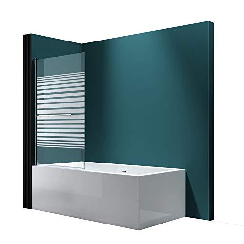 Faltwand Badewanne 94x140cm Badewannenaufsatz Duschwand 180° ESG Teilsatiniert NANO C1122 Mai&Mai