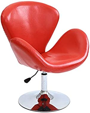Dining Chair Modern Minimalist Fashion Short Rotary Chair Ergonomic Office Computer Chair(Red) Dining Chair (Color : Red)