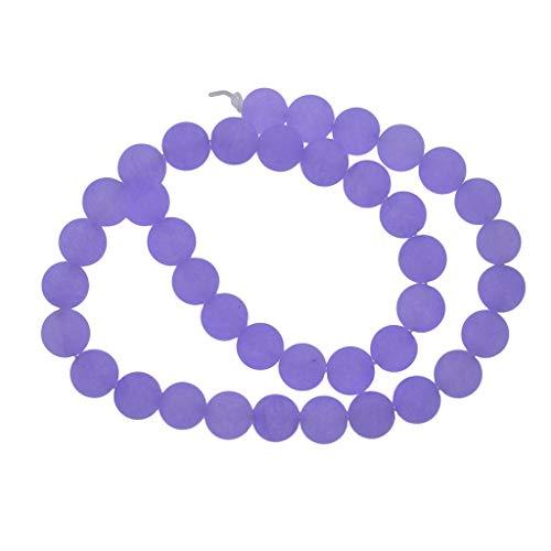 Natürliche Malay Jade Perlenkette Edelstein Perlen Spacer Perle Beads Zwischenperlen Bastelperlen zum auffädeln mit Strang - Lila