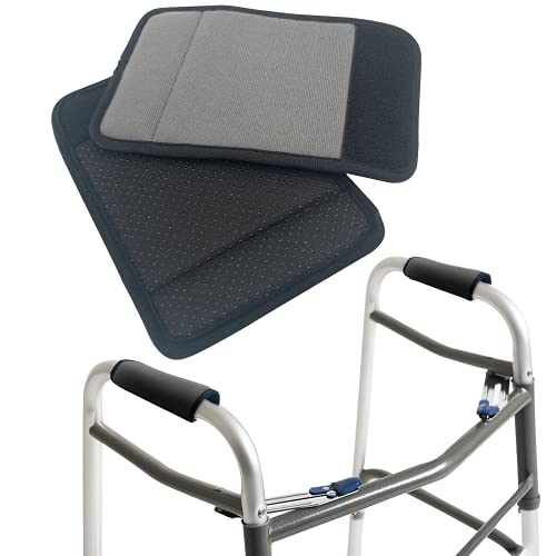 2 fundas para sillón, con espuma contorneada acolchada ajustable, antideslizante, transpirable, absorbe la humedad, para adultos y ancianos, juego de agarre cómodo (gris)