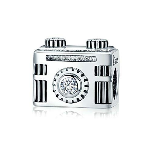 925 Sterling Silver Camera Charm Beads for Pandora Charms Bracelet & Necklace