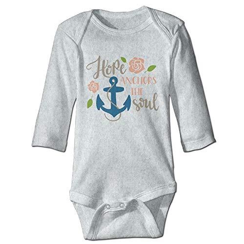HFJFJSZ Hope Anchors Soul Newborn Cotton Jumpsuit Romper Bodysuit Onesies