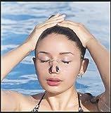 FLZONE Nasenklammer Schwimmen,6 Stück Silikon Ohrstöpsel und Nasenclip-Set,Wasserdichter Nasenclip-Silikon zum Schwimmen oder Schlafen (6 Farben) - 7
