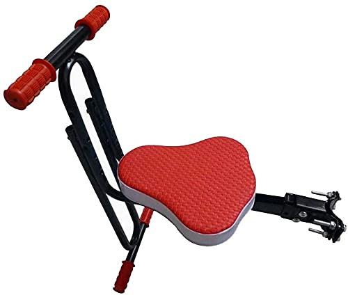 X&Y Asiento de Bicicleta para niños de Montaje Frontal Seguro, niños Sillín eléctrico Bicicleta de Bicicleta eléctrica para niños Asiento Delantero Asiento Delantero Cojín de Silla (Color : Red)