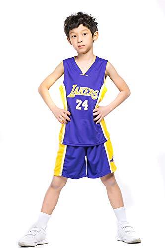 Basketball Trikot Anzüge für Kinder Männer und Frauen Basketball Uniformen für Sportler 24 Trikots Geeignet für Kindersport Fitness,Purple,2XS