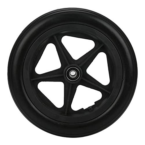 Neumático delantero antideslizante de aleación de aluminio PU de repuesto para ruedas sólidas para sillas de ruedas manuales de 12 pulgadas