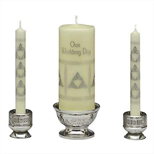 Mullingar Pewter Unity Candleholder - Celtic Design