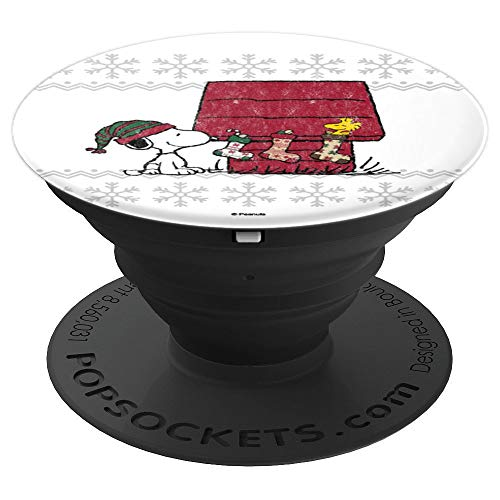 Peanuts Weihnachten Snoopy Strümpfe - PopSockets Ausziehbarer Sockel und Griff für Smartphones und Tablets