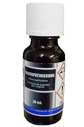 Silber-Patinierung (20 ml) - Alternative zu Schwefel-Leber, Pariser Oxyd – Silber schwärzen