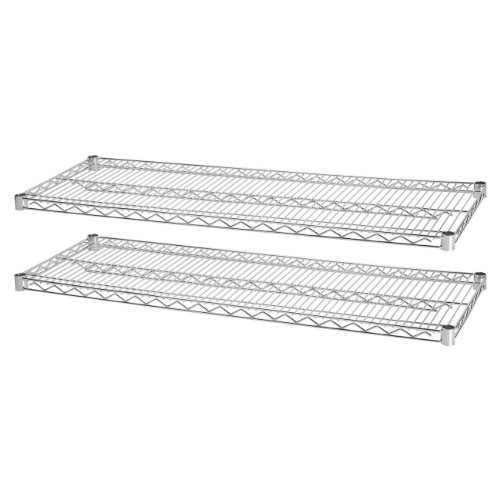 Lorell LLR84180 Industrial Wire Shelving Starter Kit Extra Shelves