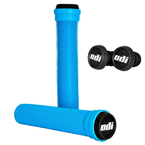 ODI SLX Soft BMX - Puños para patinete de 160 mm con barras + pegatina Fantic26 (azul claro)
