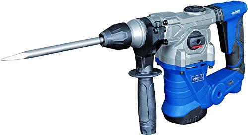 Scheppach Bohrhammer DH1300Plus (Schlaghammer mit 1250 W, 5 Joule, SDS plus Aufnahme, Drehzahl 850 min-1, Bohrleistung im Beton Ø 30mm) inkl. umfangreiches Zubehörset