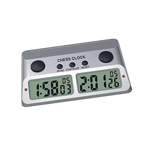 GUOTU Reloj de ajedrez, Reloj de ajedrez y Temporizador de Juego, Temporizador de Cuenta atrás de ajedrez Digital Profesional para Juegos de Mesa con función de Alarma