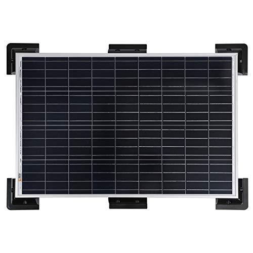 hudiemm0B Bracket Kit, 6Pcs/Set Caravan Boat Solar Panel Mounting Corner Drill-Free Bracket Frame Kit Black