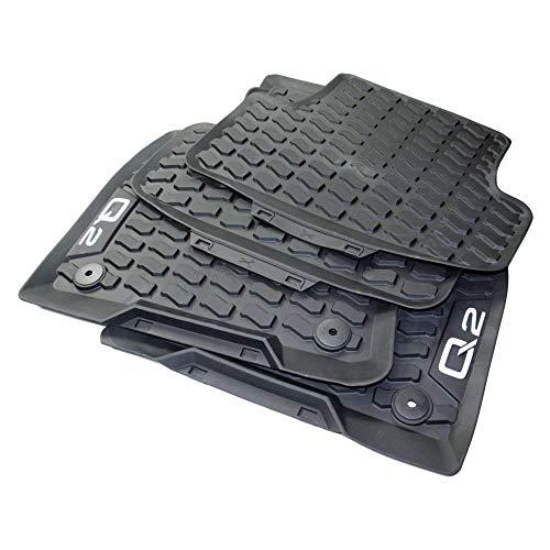 Audi Original Q2 Gummi Fußmatten Premium Allwettermatten Gummimatten 4-TLG Komplettsatz vorn+hinten schwarz