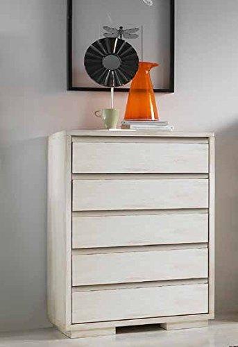 Commode en bois 5 tiroirs pour ameublement maison