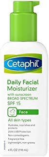 Cetaphil Fragrance Free Daily Facial Moisturizer, SPF 15, 4-Ounce Bottles (Pack of 2)