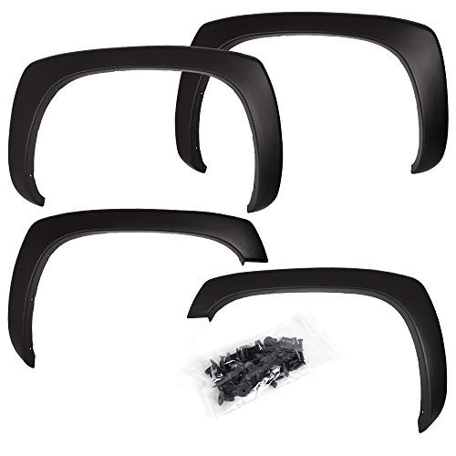 Matte Black OE Style Fender Flares Compatible For GMC Sierra For Chevy Silverado 99-06
