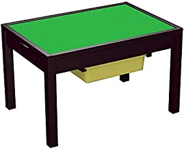 UTEX Large 2 in 1 Kid Activity Table with Storage for Older Kids, Play Table for Kids,Boys,Girls, Espresso