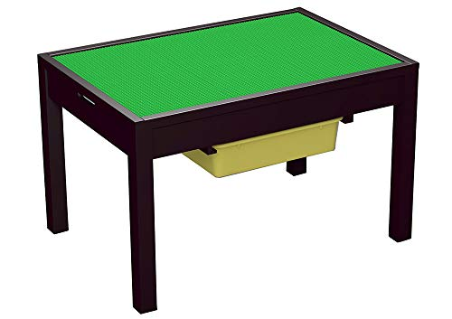 UTEX Large 2 in 1 Kid Activity Table with Storage for Older Kids Play Table for KidsBoysGirls Espresso
