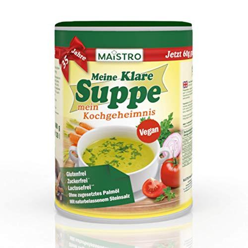 Vegane Gemüsebrühe und Würzmittel. Ohne Allergieauslöser, ohne Palmfett, einfach, schnell und delikat zubereitet. Zum 35 Jahr Jubiläum 60g GRATIS! MAISTRO MKS 600g