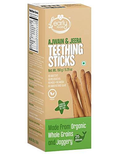 Early Foods Whole Wheat Ajwain Jaggery Teething Sticks - Ms, 150 g