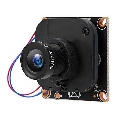 Módulo de cámara de píxeles 720P de fácil instalación, chip de cámara de lente fija de 3,6 mm, para cámaras de seguridad de observación en exteriores de la escuela(PAL format)