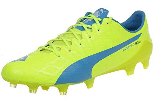 Evospeed SL-S FG Football Boots - Safety Yellow/Atomic Blue/White - Size EUR 46.5