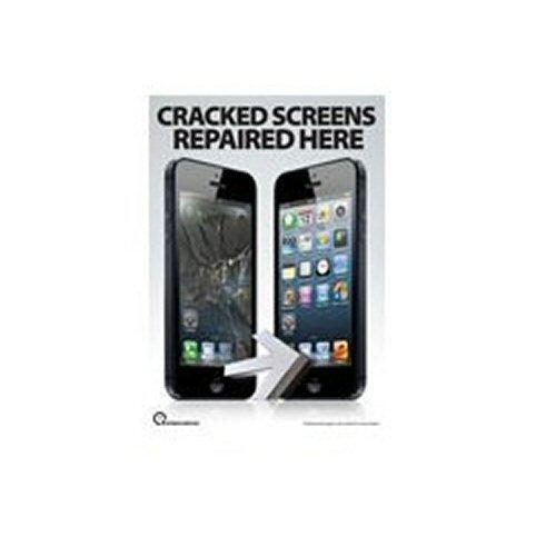 FFS Telefoon Reparatie Poster A2 (LARGE) - iPhone 5 Gebarsten schermen hier gerepareerd (Voor En Na Shot)