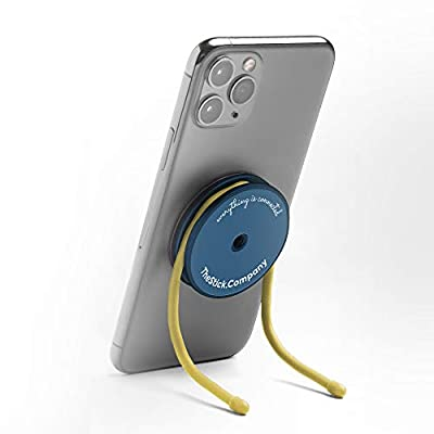 IMStick Magnetic Cell Phone Stands - Holder for Desk Home Office Kitchen Bedroom Gym Laptop Car Bike and Over 100 Use Cases - Phone Grip with Wires - Great Accessory for a Gift - Patented in The USA from IMstick