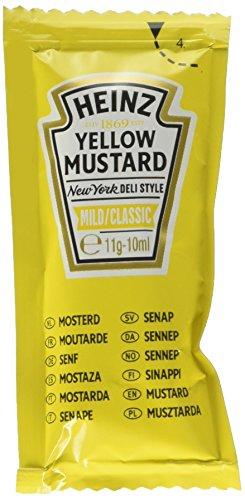 Heinz Yellow Mustard Sachet - Confezione da 200 Pezzi