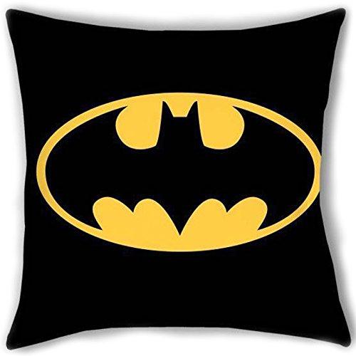 Kissenbezug für Erwachsene und Kinder aus Polyester für Bett und Sofa mit Batman-Logo-Aufdruck, 40 x 40 DC-Comic-Lizenz.